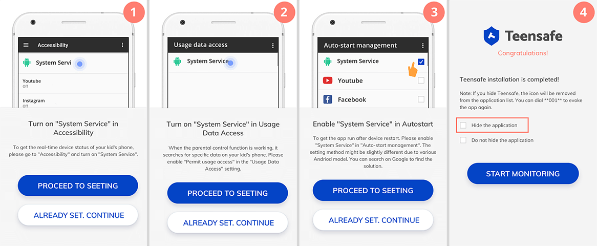 TeenSafe android tracking app setup 02