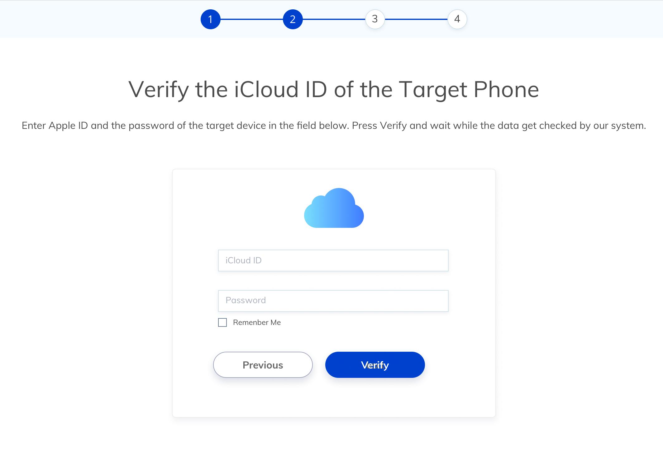 track iphone icloud backup